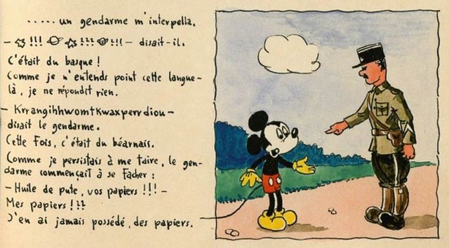Werbe is writing an article on Horst Rosenthal's comic Mickey à Gurs (Photo courtesy of Charlotte Werbe)