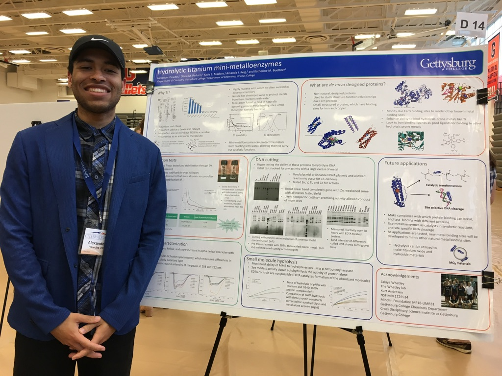 Alex Paredes '20 learned perseverance and patience while doing chemistry research (Photo Phoebe Doscher/The Gettysburgian).