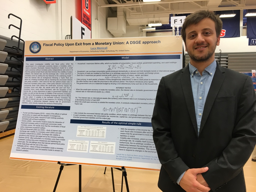 Luca Menicali '19 conducted research through the economics department (Photo Phoebe Doscher/The Gettysburgian).