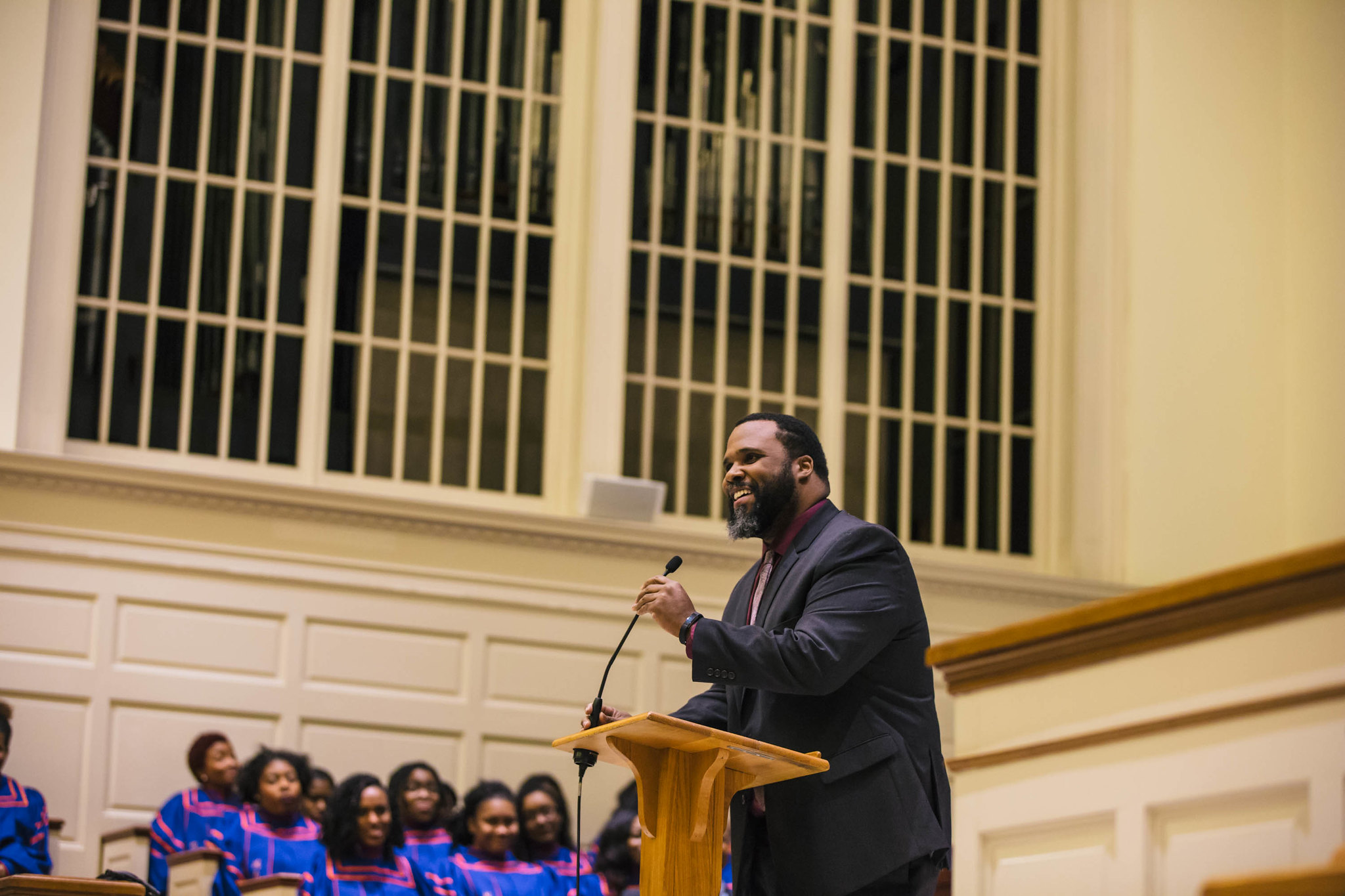 Davenport speaks at the college's Martin Luther King Day celebration in January 2017 (Photo courtesy of Gettysburg College)