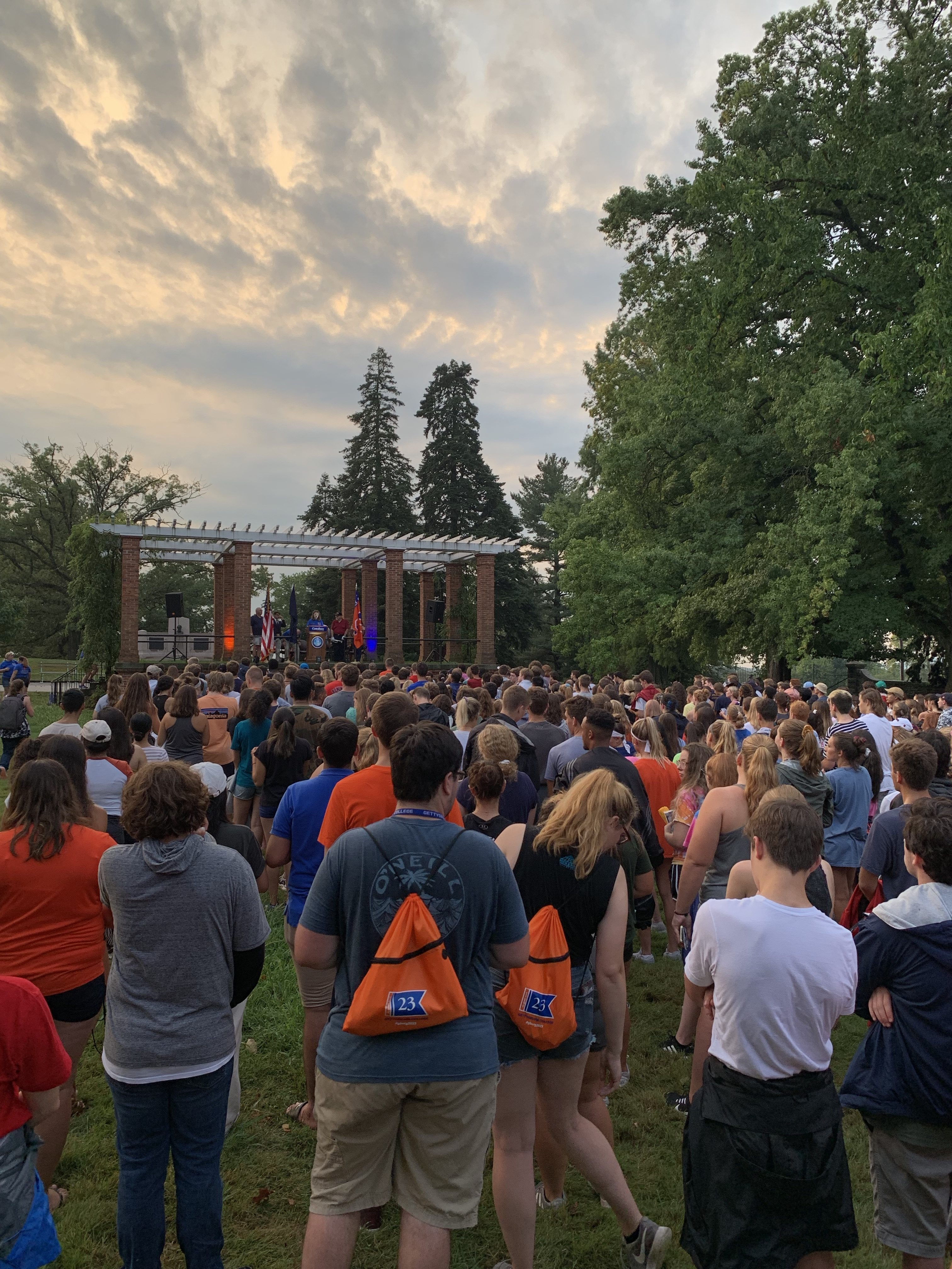 Students gathered at the cemetery to listen to Matthew Moen deliver the Gettysburg Address, among other speakers (Photo Nicole DeJacimo/The Gettysburgian).