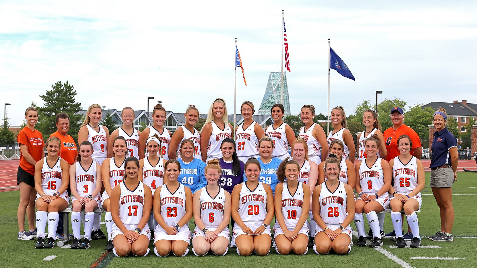 The 2019 field hockey team (Photo courtesy of Gettysburg College Athletics)