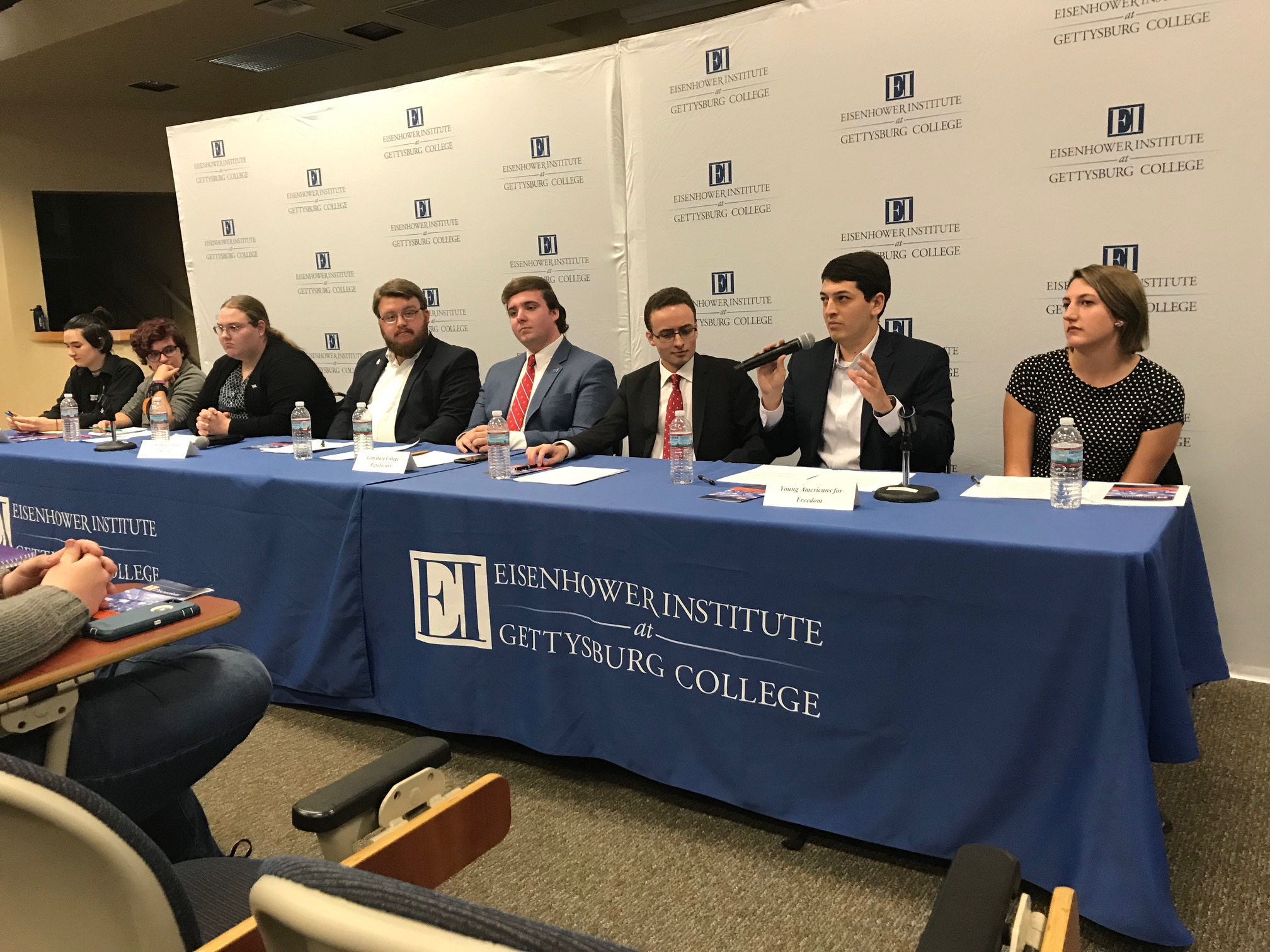 Members of four of Gettysburg's student political groups debate on public policy (Photo Carter Hanson/The Gettysburgian)