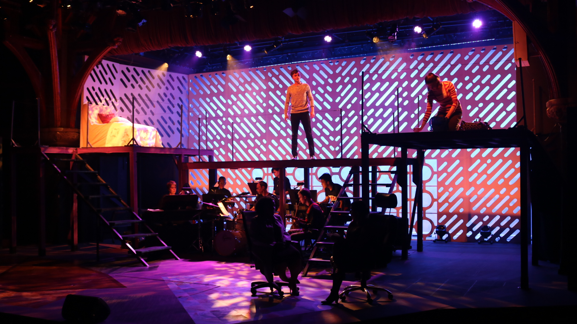 """Brian Buechele '22 and Laura Duffy '23 perform in the fall musical """"Next to Normal"""" (Photo courtesy of Eric Berninghausen)"""