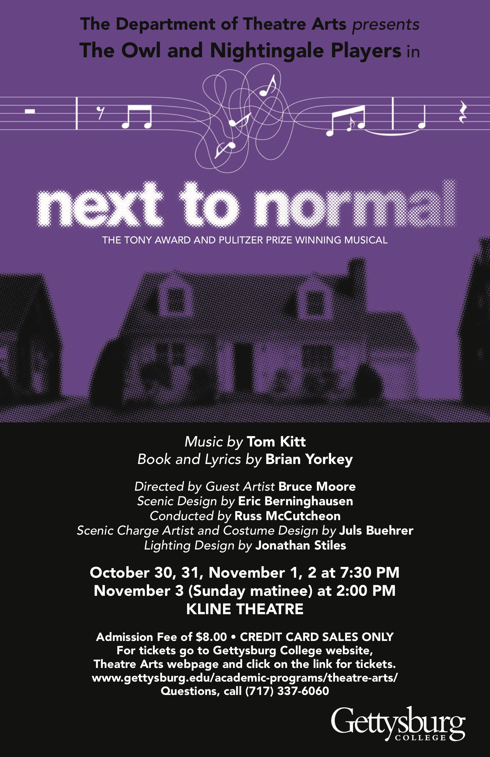 """The fall musical """"Next to Normal"""" runs from Oct. 30 through Nov. 3 (Poster courtesy of the Theatre Arts Department)"""