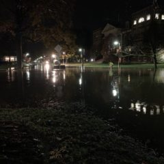 Torrential Rains Cause Flash Flooding on Campus Roads and Inside Buildings