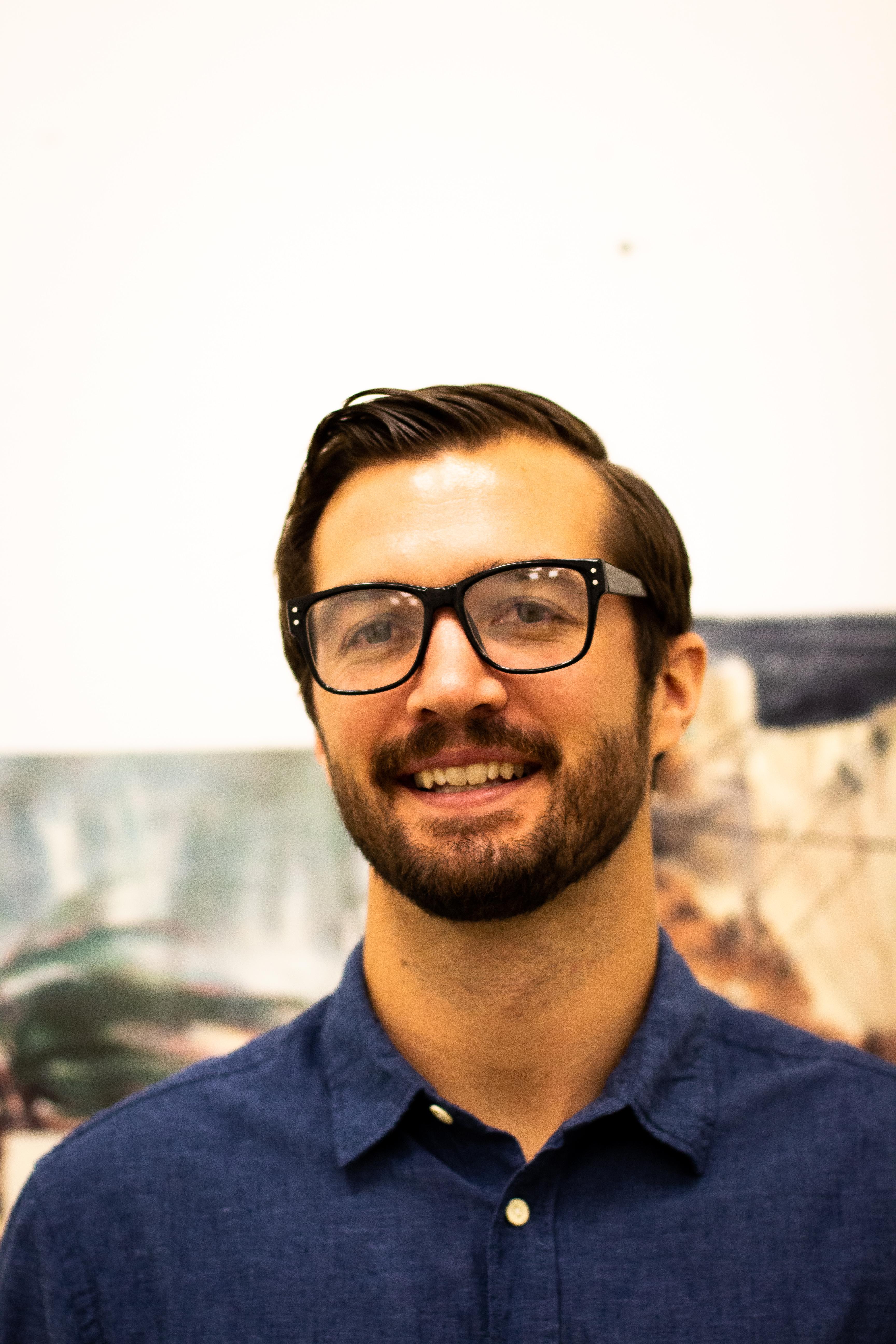 Assistant Professor of Art & Art History Austin Stiegemeier (Photo Allyson Frantz/The Gettysburgian)