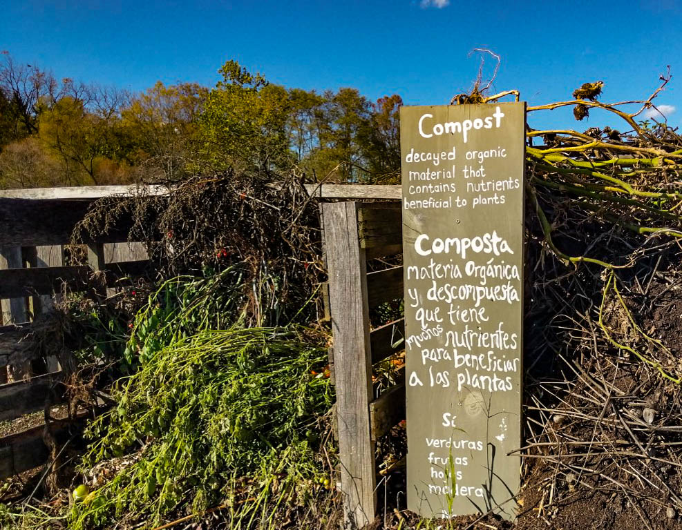 A compost area at the Painted Turtle Farm (Photo Mary Frasier/The Gettysburgian)