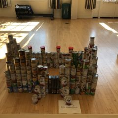 CANstruction Food Drive and Contest Brings in Donations for Campus Kitchen