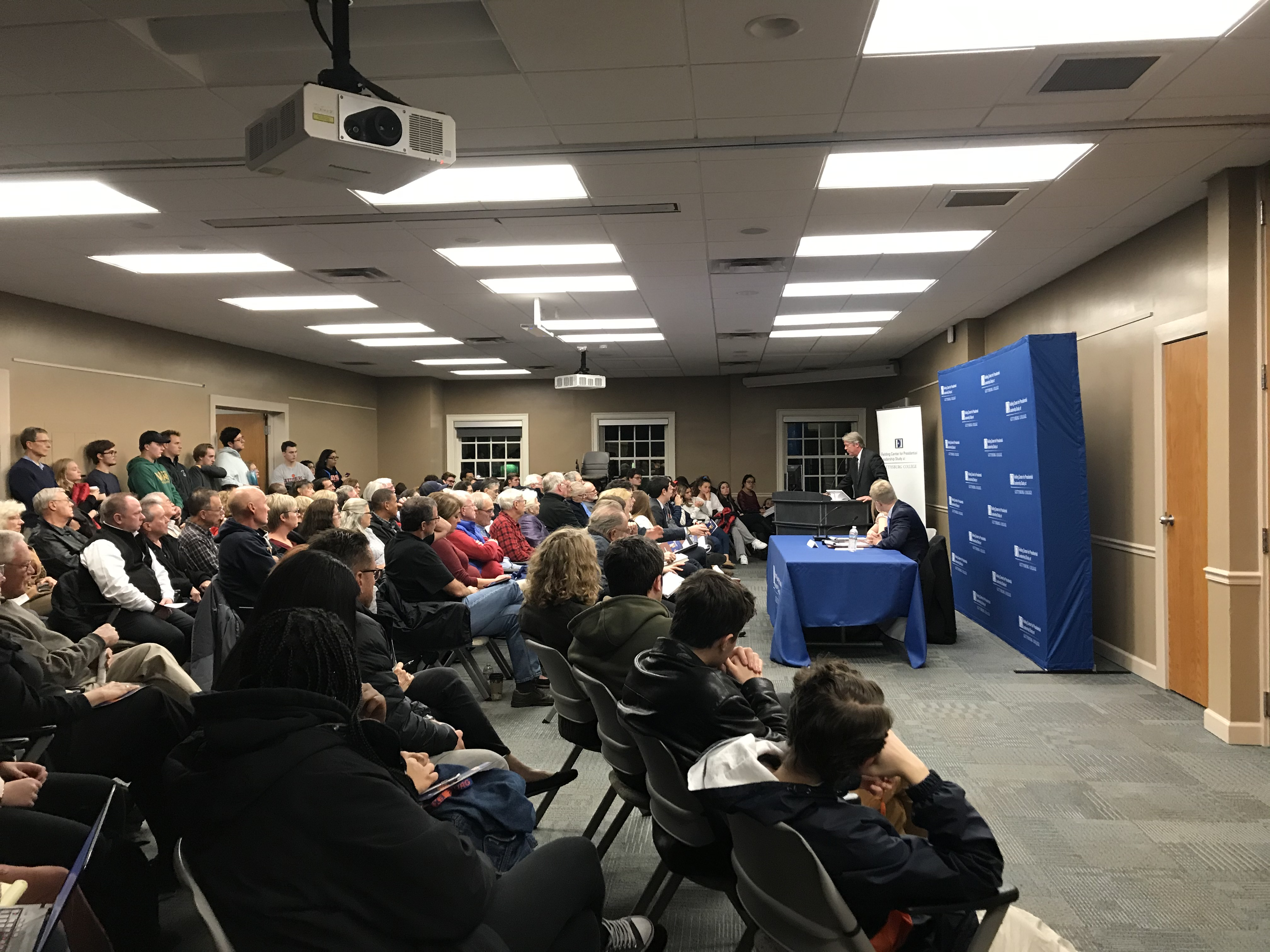 Major Garrett speaking on the Trump presidency (Photo Nicole DeJacimo/The Gettysburgian)