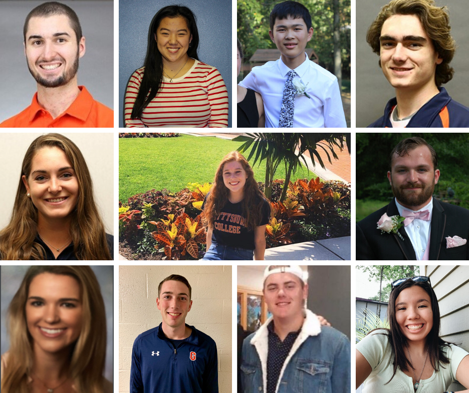 From Top L: Nick Rose, Libby Walker, Han Gong, Matt Weller, Hannah Fireman, Kat Mangione, Nathan Smith, Katie McCarthy, James Harcourt, Alex Sanchez, Caitlin Yap (Photos provided and/or Mary Frasier/The Gettysburgian)