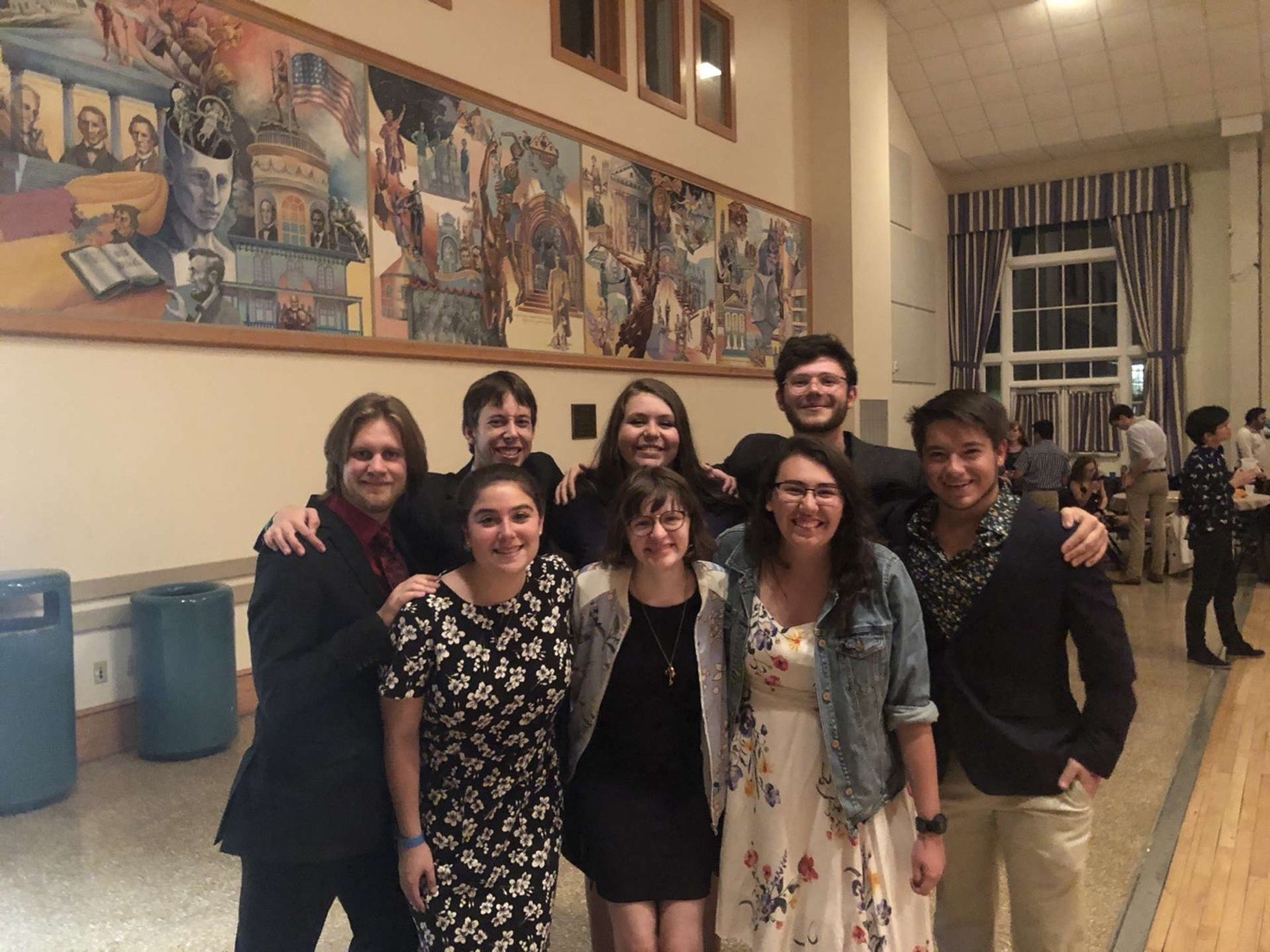 Students pose at Swingin' in the Ballroom (Photo courtesy of Summer Burton)