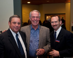Jaeger (center) with Ron Blavatt '88 and Former Executive Director of Intercollegiate Athletics and Campus Recreation David Wright (R) at a 2011 campus event (Photo courtesy of the Eisenhower Institute)