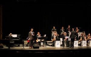 James Lamb performs at the Jazz Ensemble concert (Photo Allyson Frantz/The Gettysburgian)