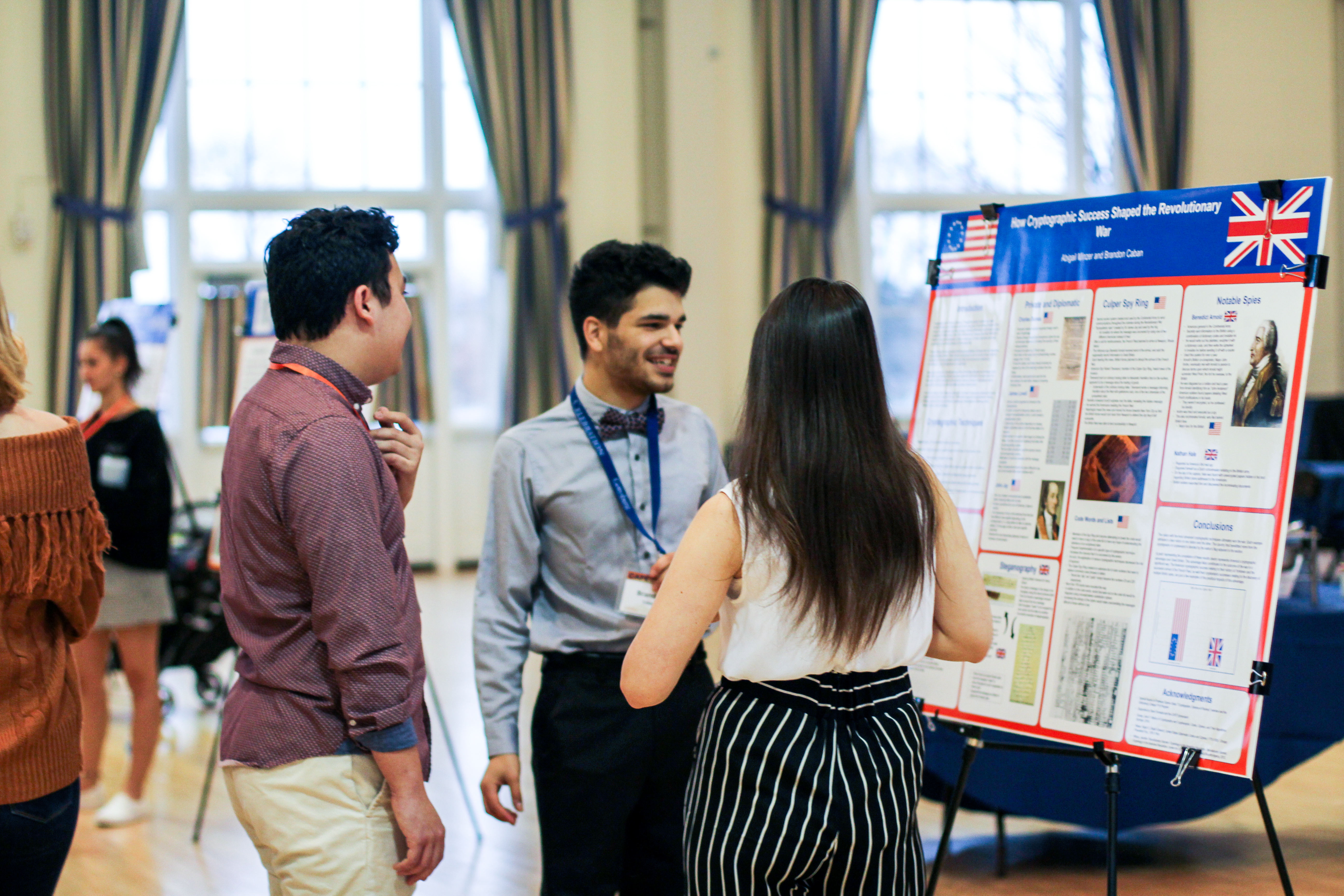 First Year Brandon Caban presents at Cafe Symposium (Photo Allyson Frantz/The Gettysburgian)