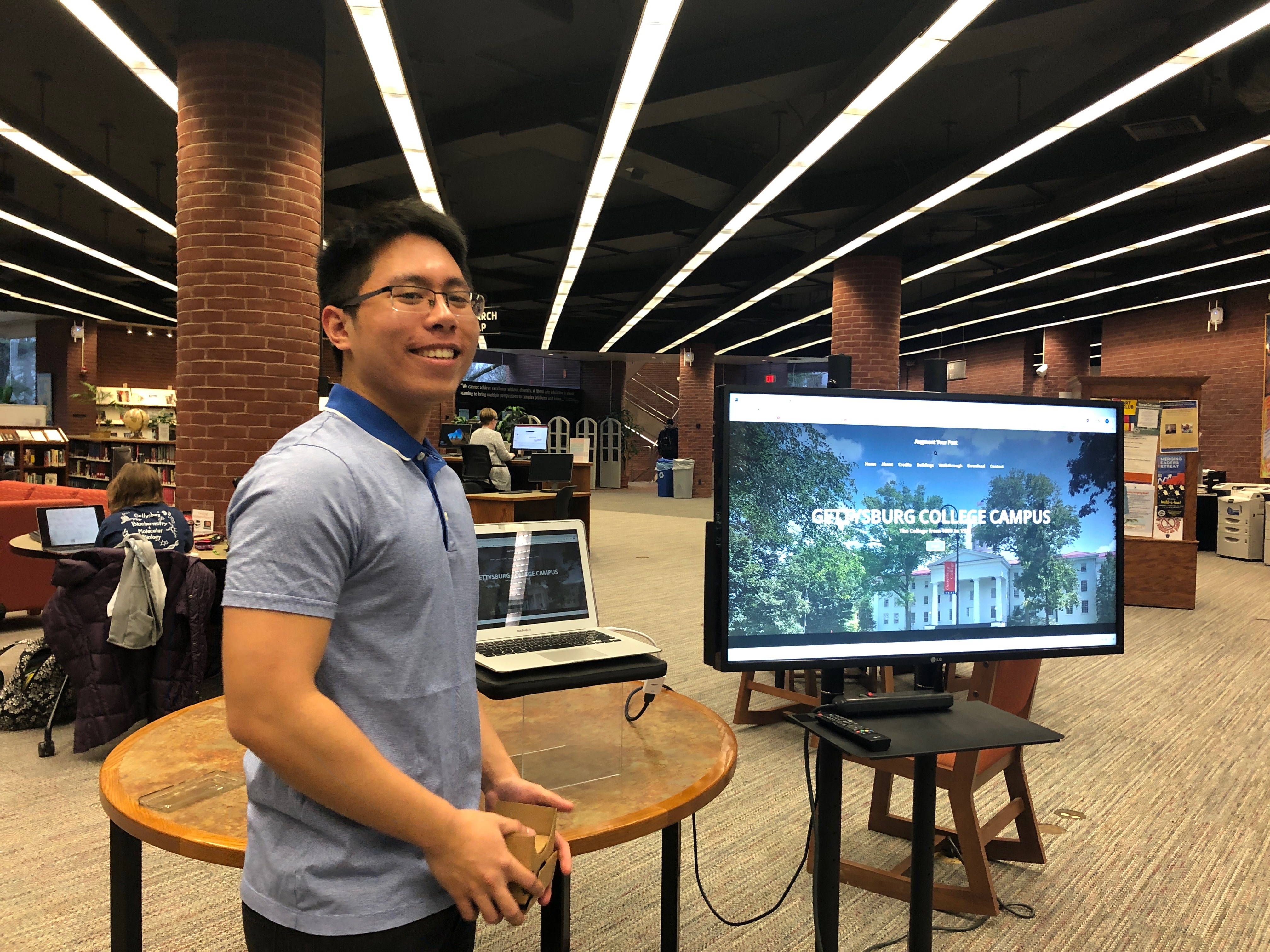 Students present digital scholarship at Musselman Library (Photo provided)