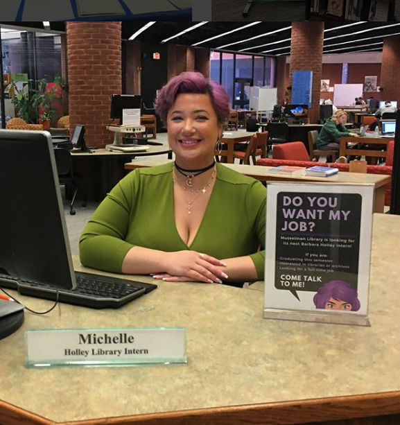 Michelle Williams is the 2019-2020 Barbara Holley Library Intern (Photo provided)