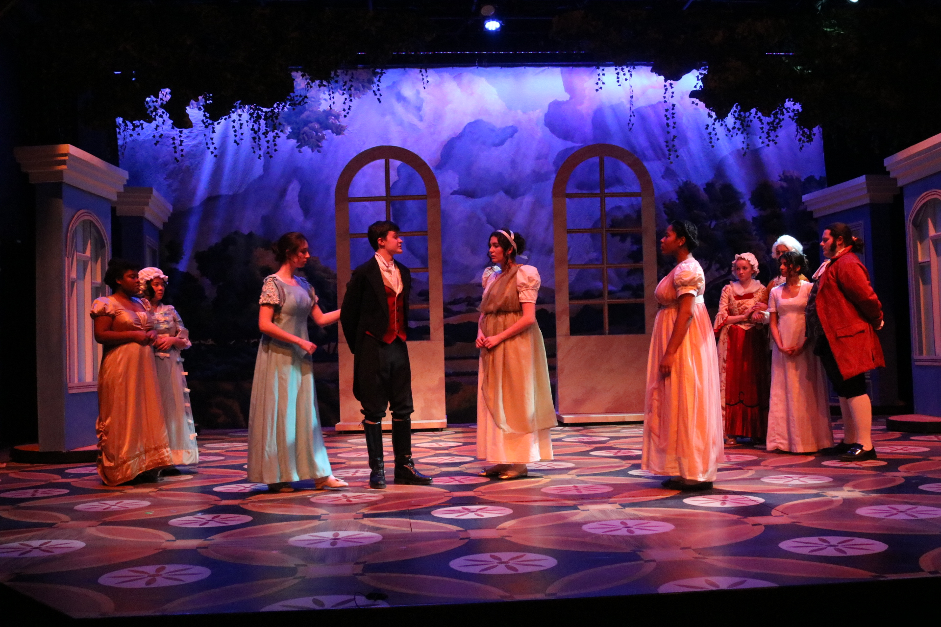 The Owl and Nightingale Players perform Sense and Sensibility as a part of their 2019-20 season. Photo courtesy of Kline Theatre