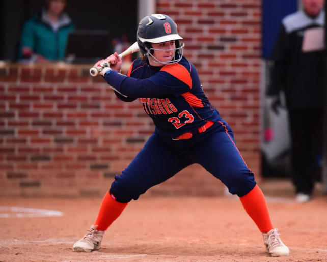 Sarahrose Jonik '20 at Mary Washington (Photo courtesy of Gettysburg College Athletics)