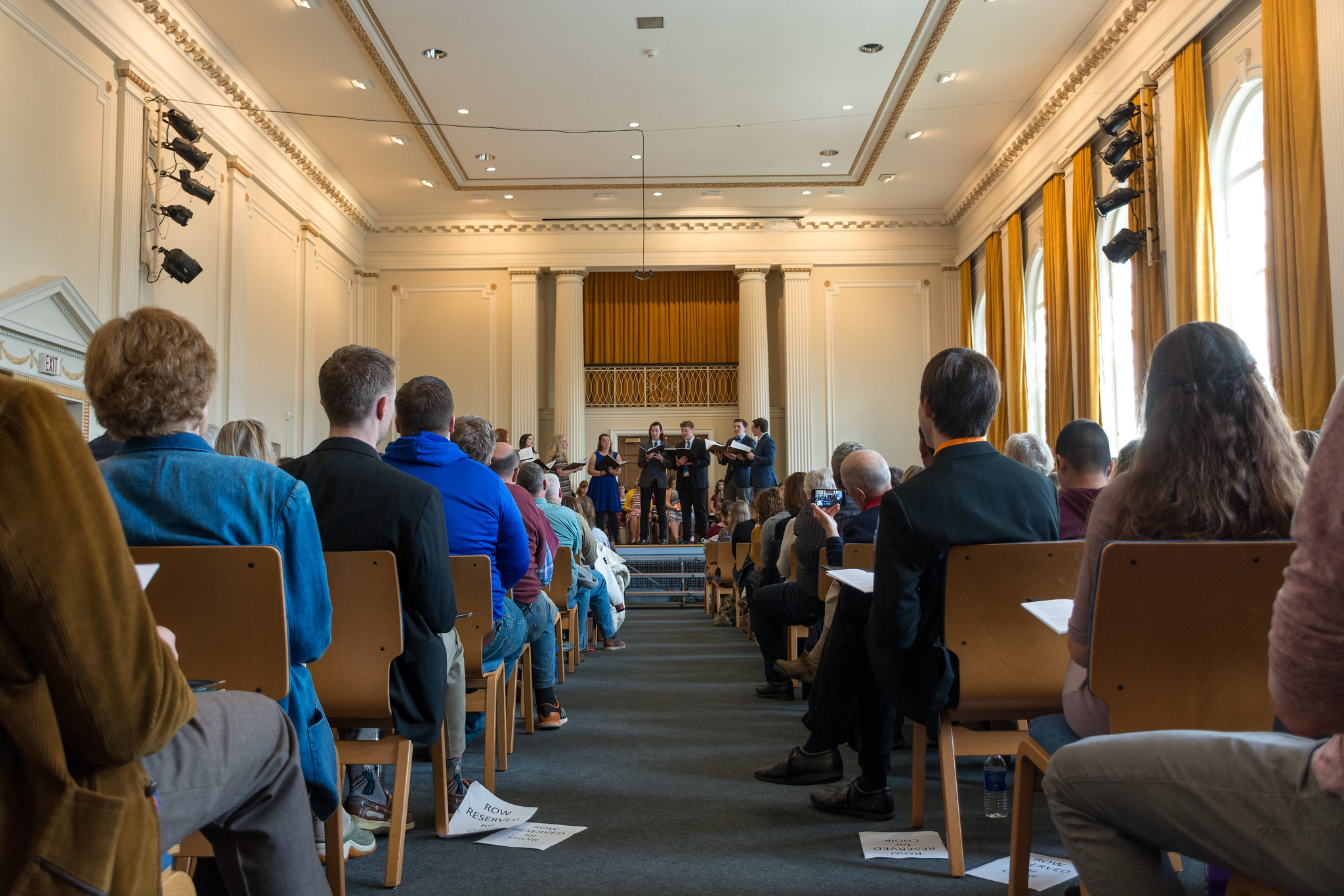 Paul Recital Hall may not be packed, but the Conservatory's Now Hear This tradition lives on (Photo courtesy of Gettysburg College)
