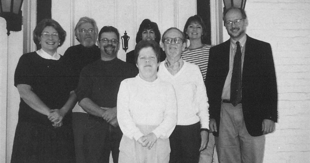 Gaenslen (far right) with his political science colleagues in 2000 (Photo courtesy of Spectrum Yearbook)