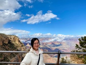 Mai P. Trinh '20, an international student from Vietnam, was visiting the Grand Canyon National Park in Arizona right before the college announced to extend the spring break due to the COVID-19 outbreak (Photo courtesy of Mai P. Trinh)