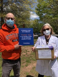 Chinese international students' families have donated over 10,000 masks to Gettysburg College (Photo courtesy of Brad Lancaster)