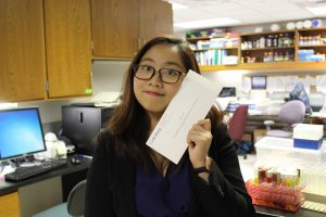 San K. Luc, a Vietnamese international student, recently graduated from Gettysburg College with her degrees in biology and East Asian studies (photo courtesy of San K. Luc).