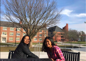 Srey Nich Vunn (right), a first-generation college student studying economics and international affairs, came to Gettysburg from Cambodia (photo courtesy of Srey Nich Vunn '22).