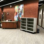 Pick up shelves. Courtesy of Musselman Library.