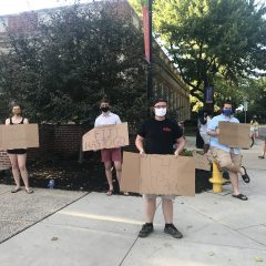Students Protest Administration's Response to COVID-19 Outbreak