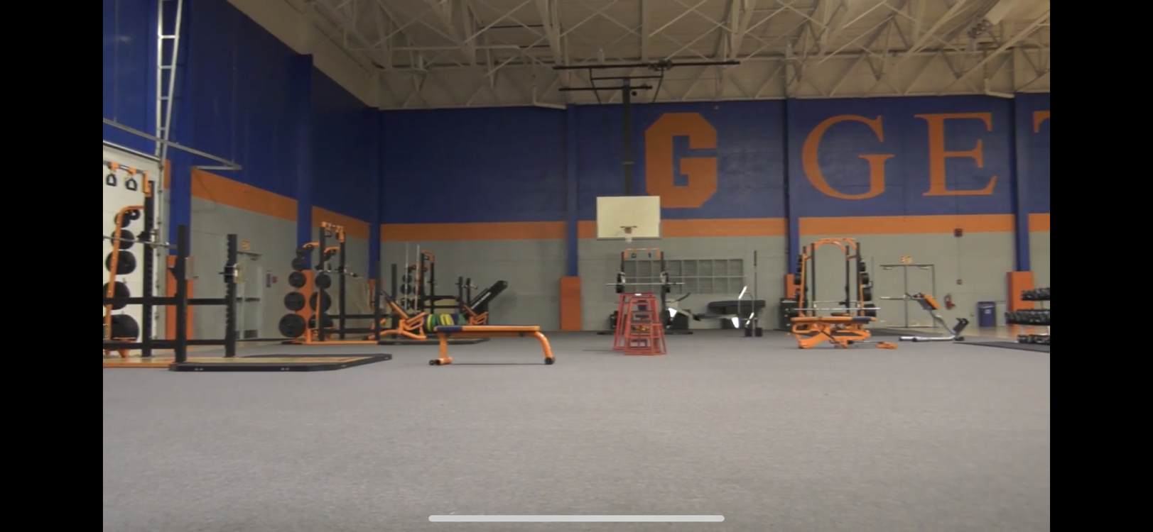 Gettysburg College Athletics facilities have spread out equipment as part of COVID-19 prevention measures (Photo courtesy of Gettysburg College Athletics)