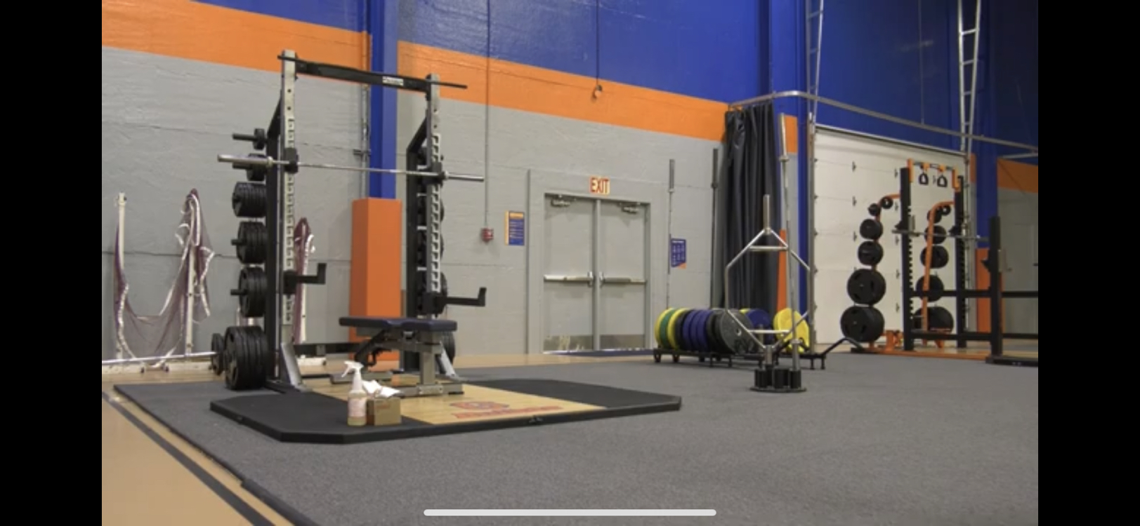 Gettysburg College Athletics facilities with spaced out equipment (Photo courtesy of Gettysburg College Athletics)