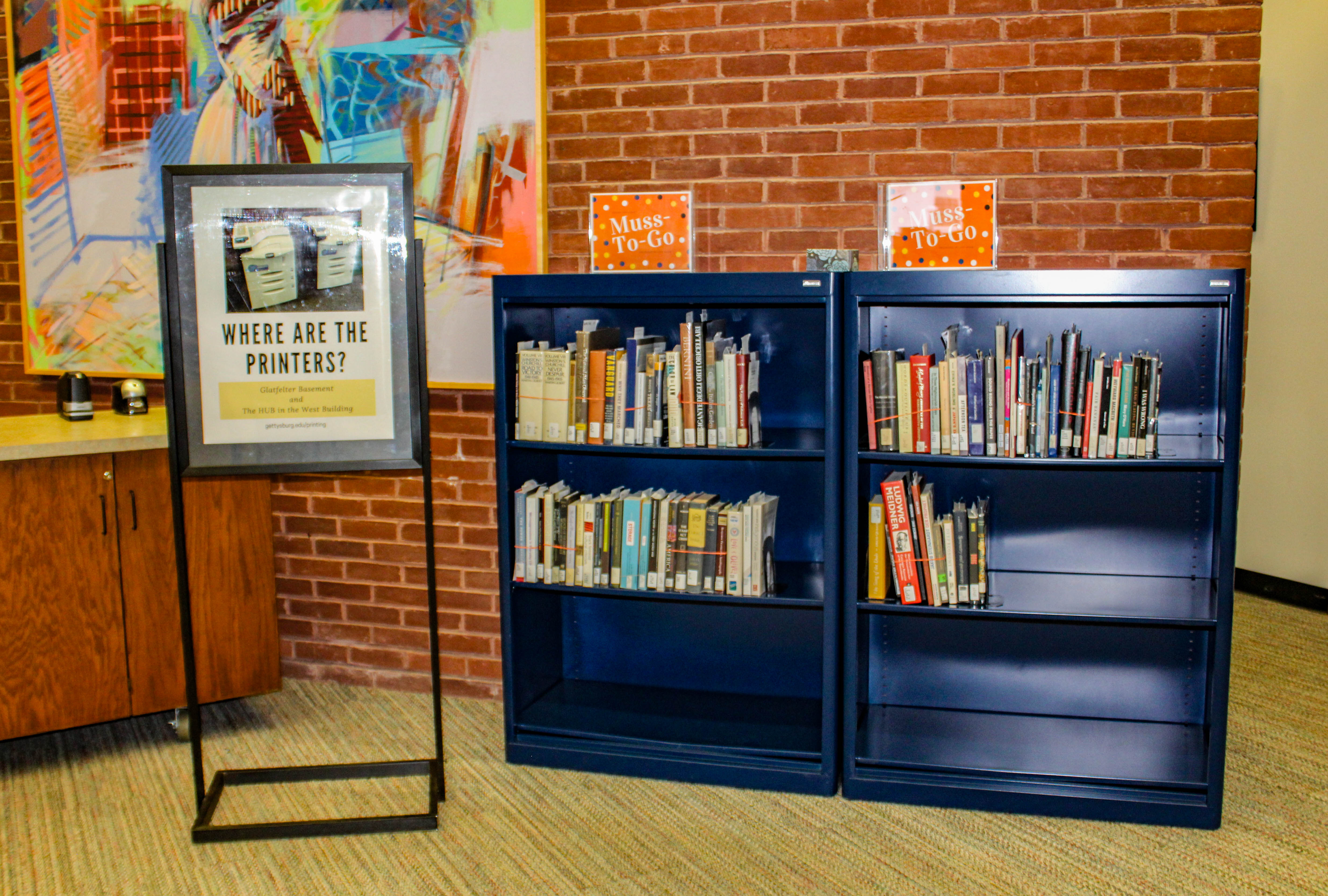 """Musselman Library staff have created a """"Muss-To-Go"""" system of offering students books safely during the pandemic (Photo Mary Fraiser/The Gettysburgian)"""