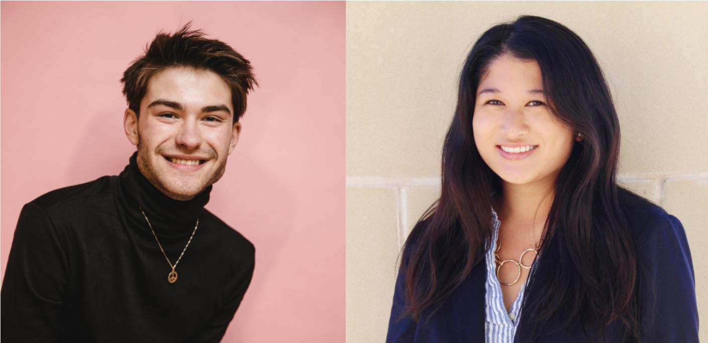Syd Quan and Colin Hughes will lead the 2021-22 Student Senate.