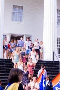 The Class of 2025 walks through Pennsylvania Hall (Photo Aly Wein/The Gettysburgian)