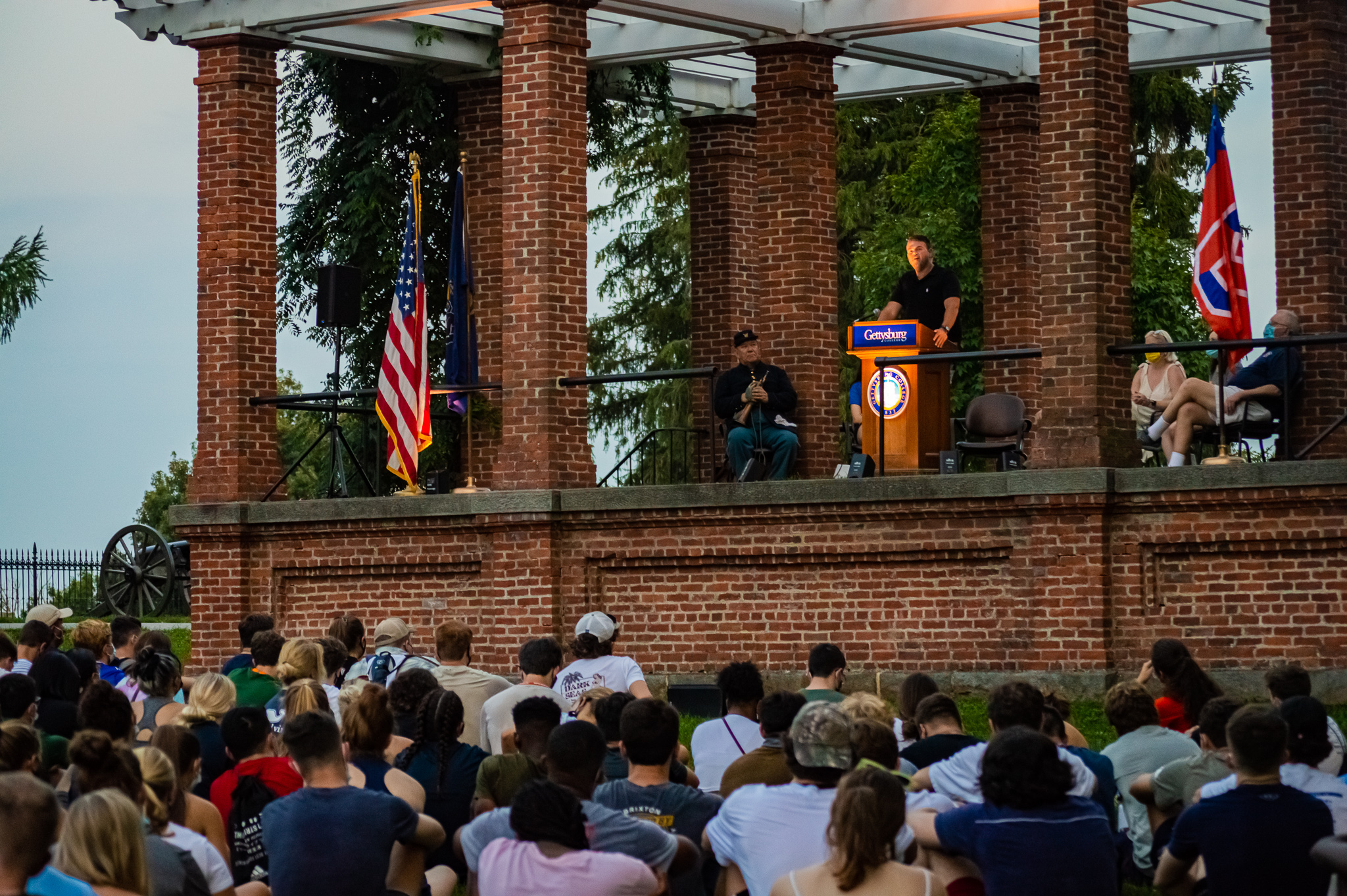 Professor Jim Downs addresses the Class of 2025 at the First-Year Walk (Photo Aly Wein/The Gettysburgian)
