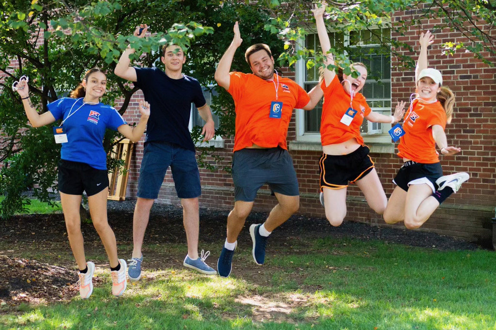 Jump for Move-In Day Joy! (Photo Aly Wein/The Gettysburgian)