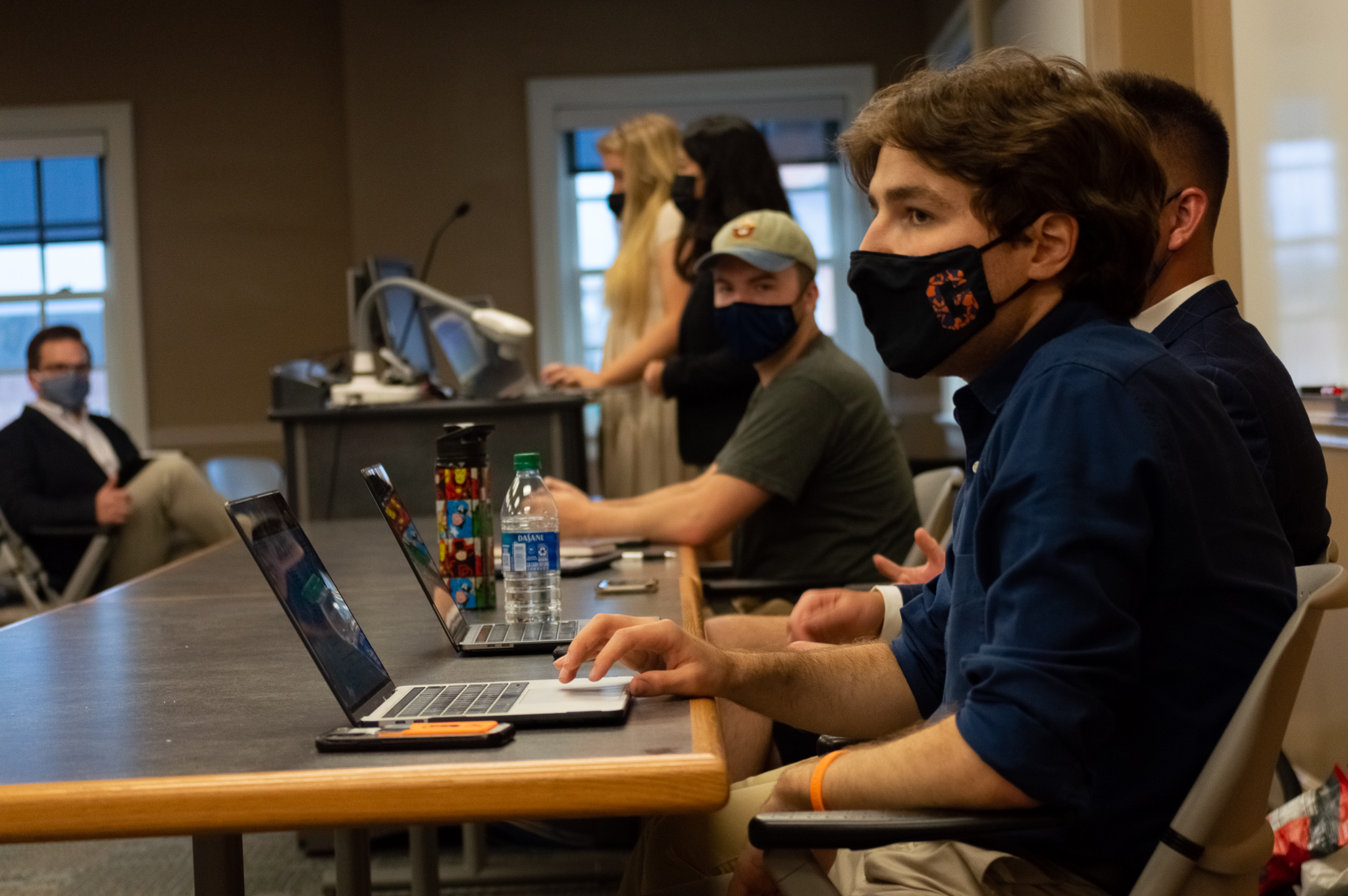 The Senate executive board during the first meeting of the 2021 fall semester (Photo Aly Wein/The Gettysburgian)