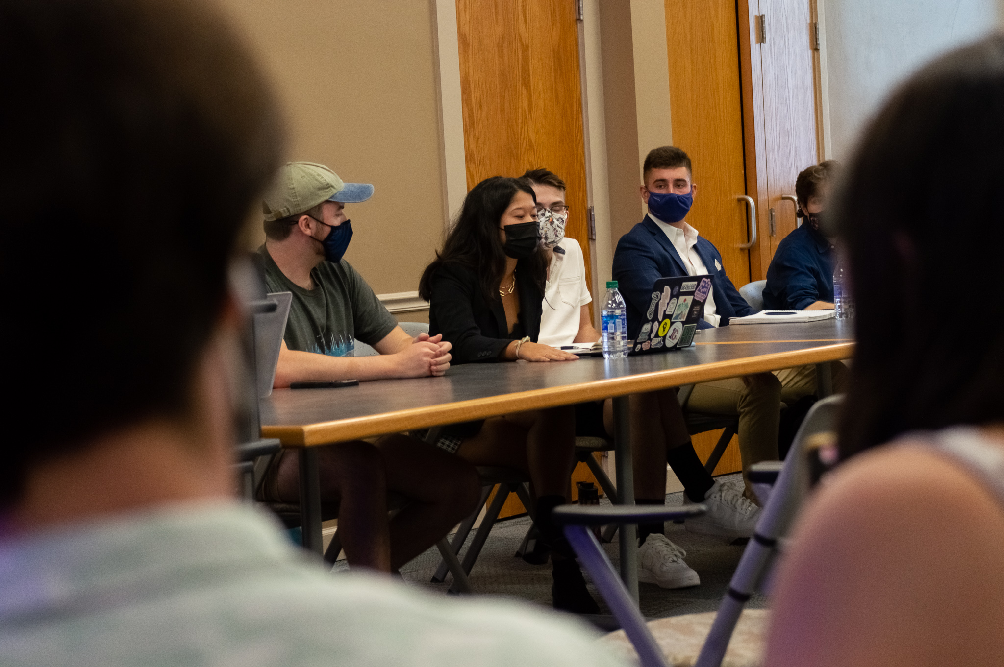 The Student Senate executive board during a meeting (Photo Aly Wein/The Gettysburgian)