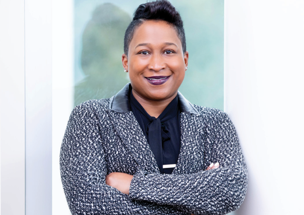 Speaker Dr. Kristen Broady, a Fellow at the Brookings Public Policy Program and a Professor of Financial Economics at Dillard University, is pictured.