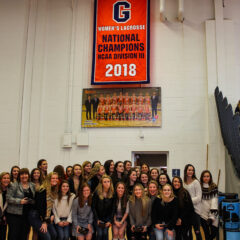 Women's Lacrosse Receives their Championship Rings