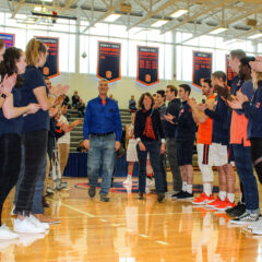 Janet '77 and Ed Riggs '77 Given Honorary Seat