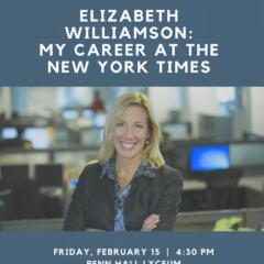 Gettysburgian to Host New York Times Reporter Elizabeth Williamson