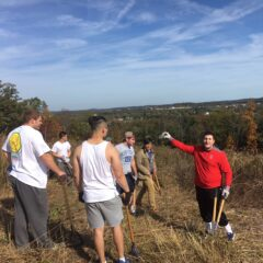 Gettysburg Fraternities and ROTC Students Work on Battlefield Beautification