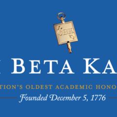 Phi Beta Kappa Inducts 11 New Members Into Society